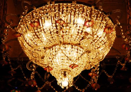 isolated shot of Home interiors Chandelier on ceiling Stock Photo - 5644354