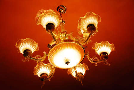 isolated shot of Home interiors Chandelier on ceiling Stock Photo - 5644411