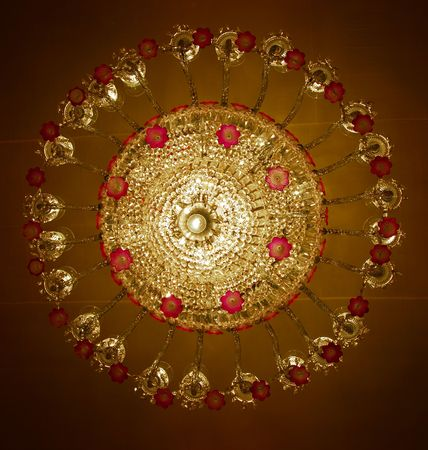 Home interiors Chandelier on ceiling photo