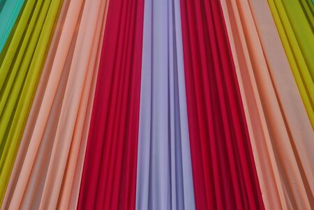 Ornate colorful designer curtains in multi colors Stock Photo - 6495088