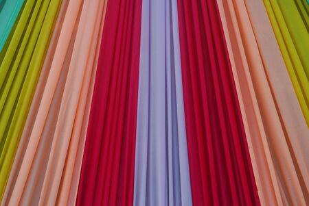 Ornate colorful designer curtains in multi colors Stock Photo - 6495088