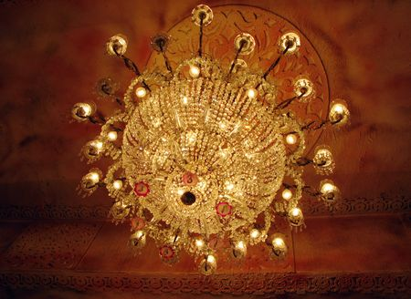isolated shot of Home interiors Chandelier on ceiling Stock Photo - 6467265