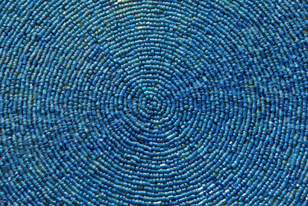indian fabric: Indian fabric design with blue beads texture