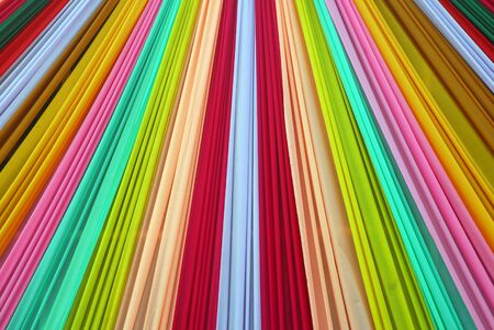Ornate colorful designer curtains in multi colors Stock Photo - 7047756