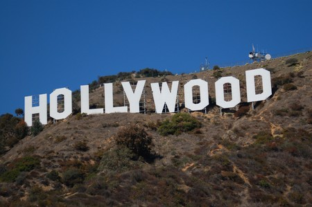 hollywood hills: Hollywood firmare sulle colline di Los Angeles California USA