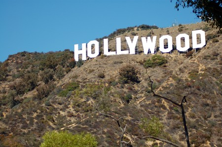 Hollywood sign on hills in Los Angeles California USA Stock Photo - 7738418