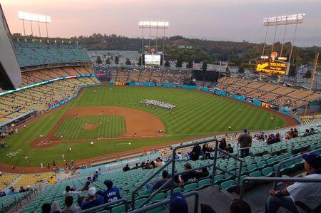 Dodgers baseball Stadium in Los Angeles California