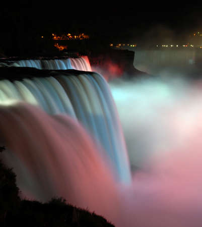scenic night view of Niagara Falls in New York usa Stock Photo - 8698145