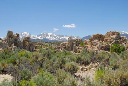 Tufas rocks made of calcium carbonate deposits at Mono Lake California,USA