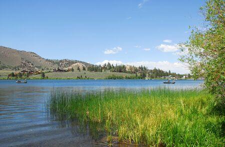 gull lake at scenic june lake loop in mammoth lakes california photo