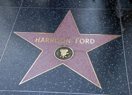 hollywood boulevard walk of fame with Harrison Ford star