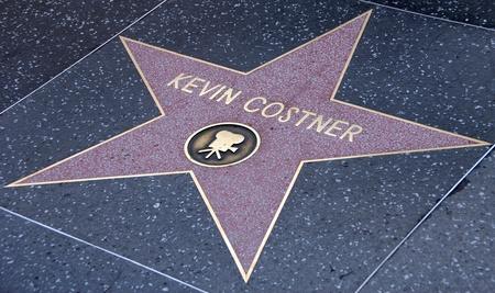 walk of fame: hollywood boulevard walk of fame with Kevin Costner star