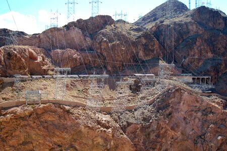 Hoover Dam built on Lake Mead Las Vegas Nevada USA photo