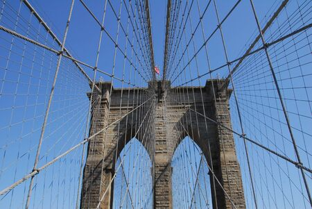 Brooklyn Bridge a landmark suspension bridge in Manhattan New York USA Stock Photo - 14015421
