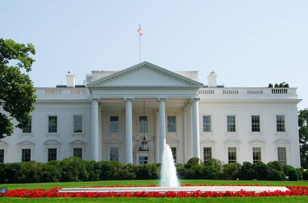 The famous White House building in Washington DC photo