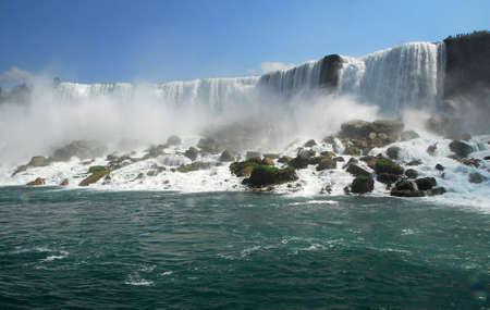 Scenic American Waterfall in Niagara Falls New York USA