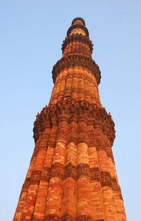 minar: Qutab Minar in New Delhi India  Stock Photo