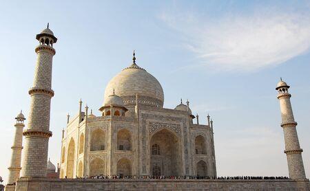 shah: Taj Mahal at Agra India made of white marble by emperor Shah Jahan in memory of wife Mumtaj