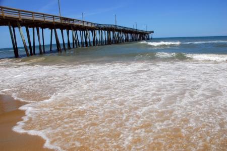 scenic view of virginia beach pier in america