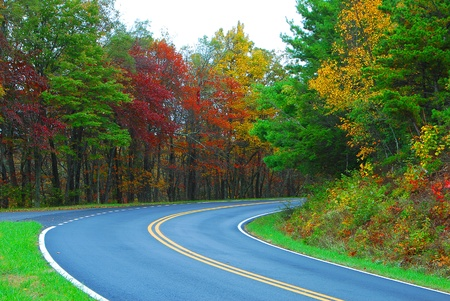 Fall Colors of autumn in Skyline Drive Shenandoah National Park Virginia Stock Photo - 22161186