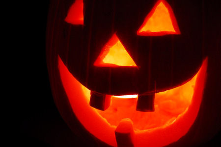scary pumpkin carving decoration made for halloween