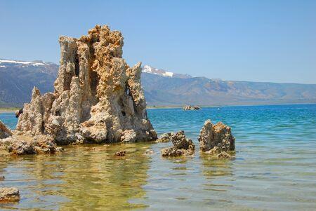 calcium carbonate: Tufas rocks made of calcium carbonate deposits at Mono Lake California,USA