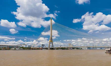 Rama VI Bridge Over the Chao Phraya River Stock Photo