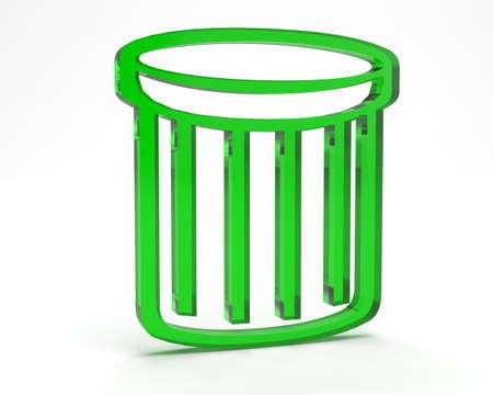 wastepaper: symbol for business