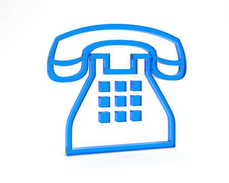 directorio telefonico: s�mbolo para los negocios Foto de archivo