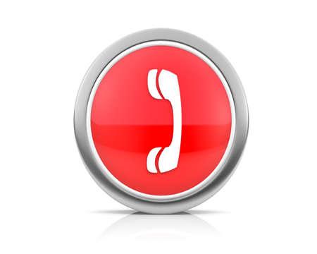 caller: icon for web Stock Photo