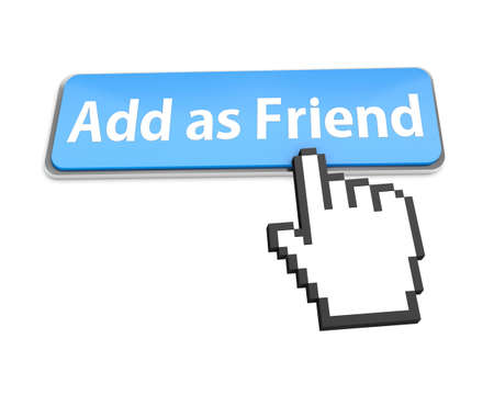 Add as friend button icon Stock Photo - 22535923