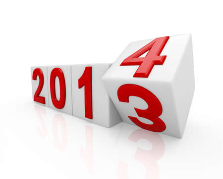 newcomer: 2014  New Year Stock Photo