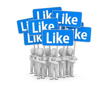 social network button