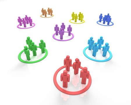 Different teams symbol 3D
