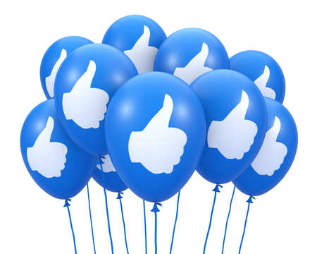 Social media balloon symbol Stock Photo - 26100326
