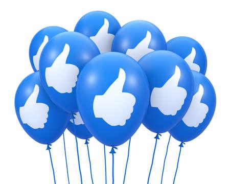 Social media balloon symbol Stock Photo - 26100326