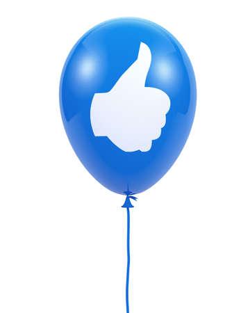 Social media balloon symbol Stock Photo - 26100328