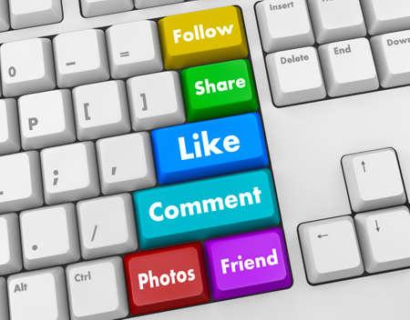 social media 3d keyboard