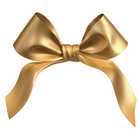 bright gold bow