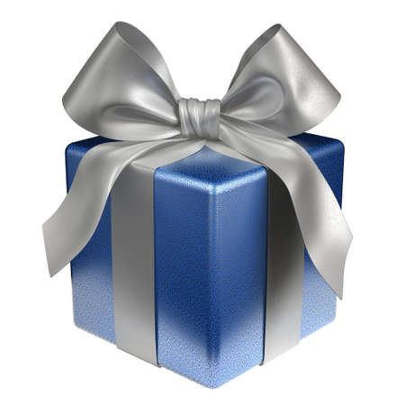 Isolated Blue Gift Box