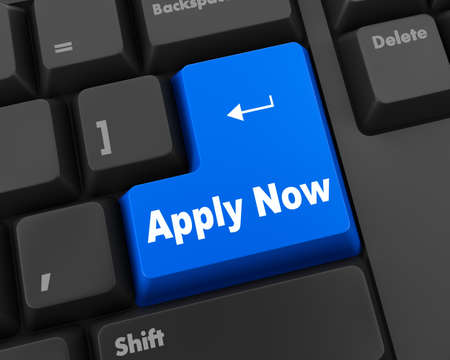Apply now with black keyboard Stock Photo