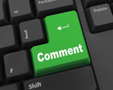 comment enter key Stock Photo