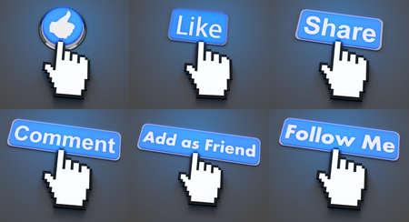 add as friend: Social media button