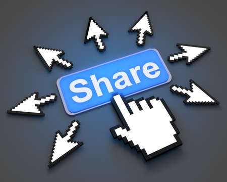 share symbol button photo