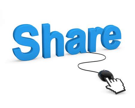 share symbol photo