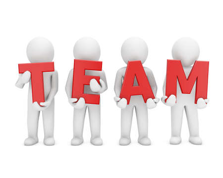 people working as a team. Great concept depicting teamwork and cooperation Stock Photo