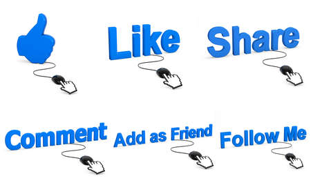 Social media like share thumb symbol photo