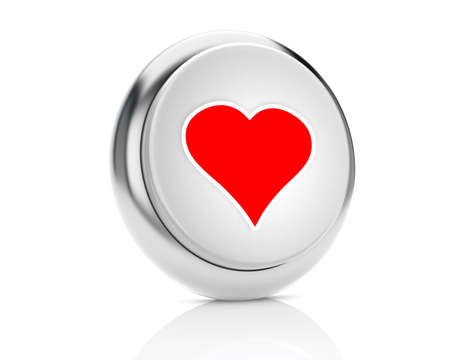 heart icon - Stock Image 3D photo