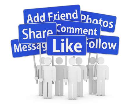 social network 3d Stock Photo - 26100625