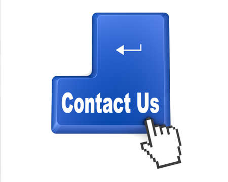 enquiry: A contact us message on keyboard, internet or online contact through website.